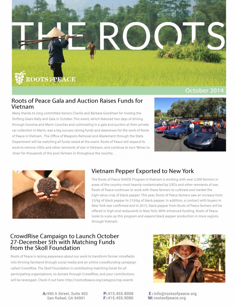 The Roots newsletter, October 2014