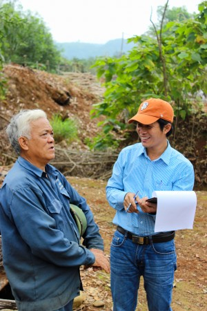 Mr Chuan and Extension Advisor Phong - Dong Ha Quang Tri Province - Central Vietnam