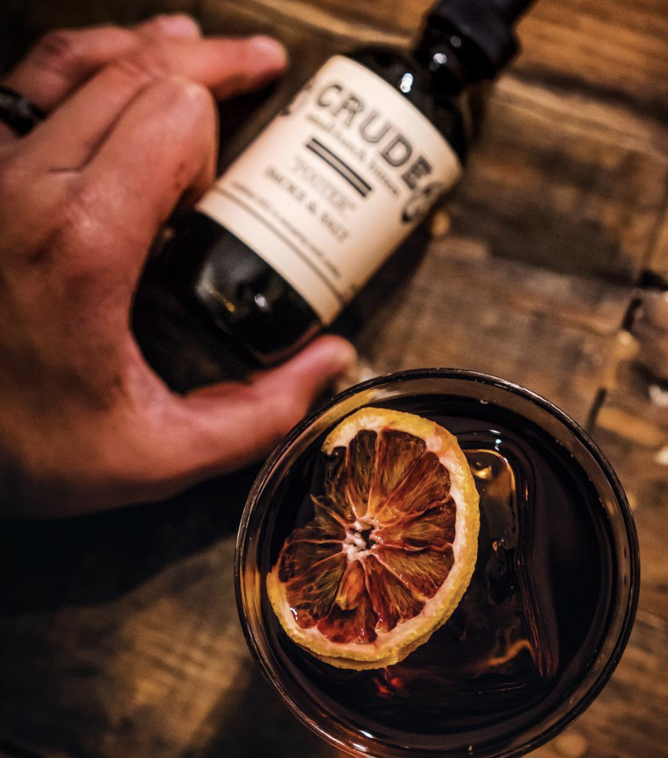 CRUDE BITTERS & SODAS   North Carolina's first cocktail bitters company, est. 2012  Crude boasts a creative array of hand-crafted cocktail bitters and shrub syrup concentrates for both the professional and cocktail enthusiast.  Their line is crafted in small batches from 100% maceration in organic, non-GMO alcohol, with no glycerin, chemicals or dyes. Glass pots or wood barrels are used exclusively in the storage and aging of our products.  Visit them in the Artisan Market, and catch them on the BrewU Education Stage!