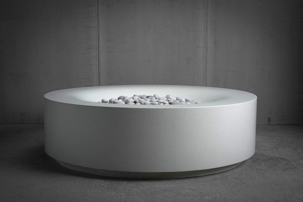 "AURA 48""  White  Standard Finish  White Basalt  San Diego, CA"