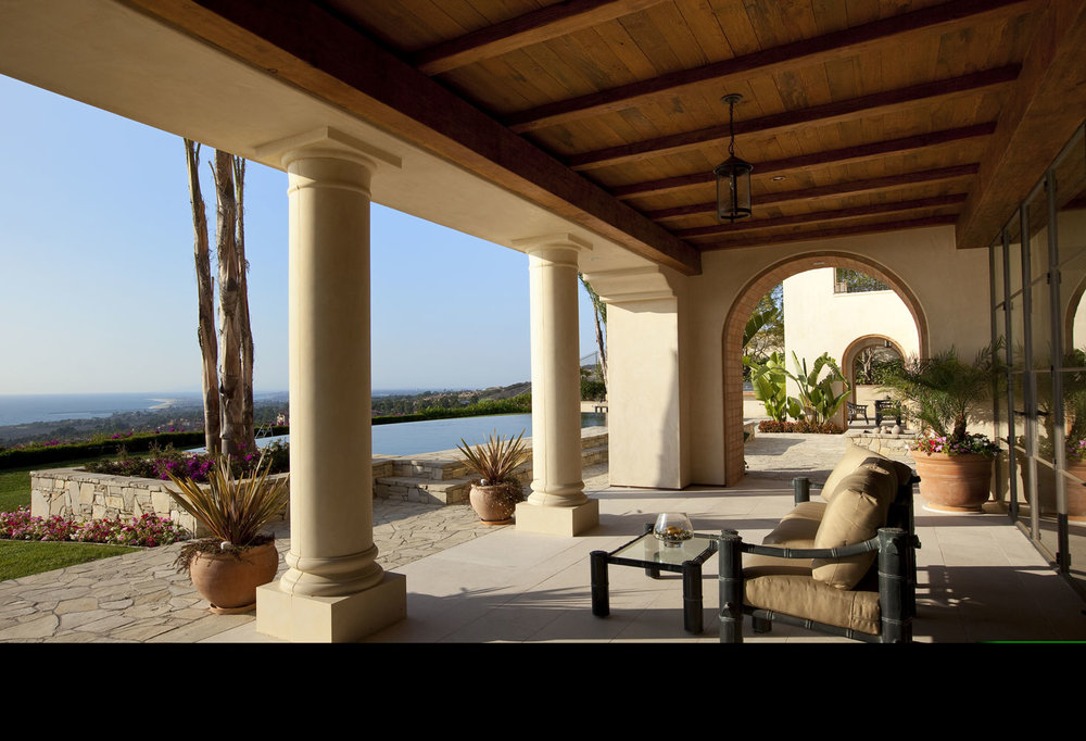 Modern-Spanish-Rear-Patio-Beamed-Tongue-Groove-Ceiling-Pillars-Views-Corbin-Reeves.jpg