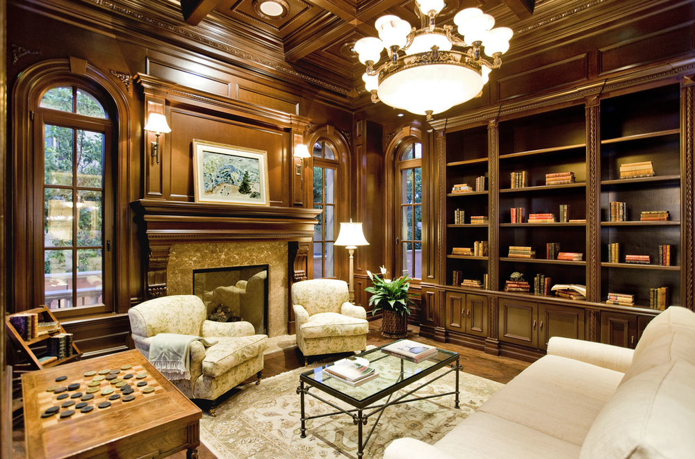Traditional-Library-Wood-Paneling-Shelves-Fireplace-Coffered-Ceiling-Corbin-Reeves.jpg