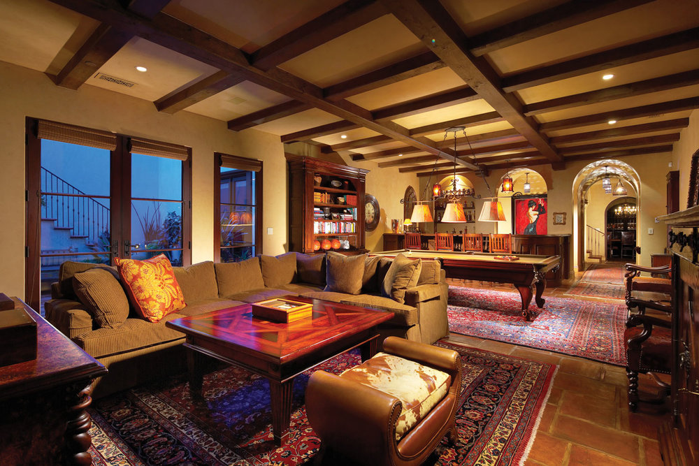 Spanish-Game-Room-Bar-Beamed-Ceiling-Tile-Floor-Corbin-Reeves.jpg