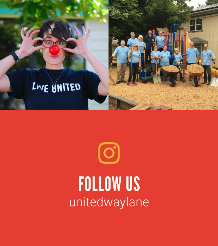 Follow us on Instagram. Handle: unitedwaylane
