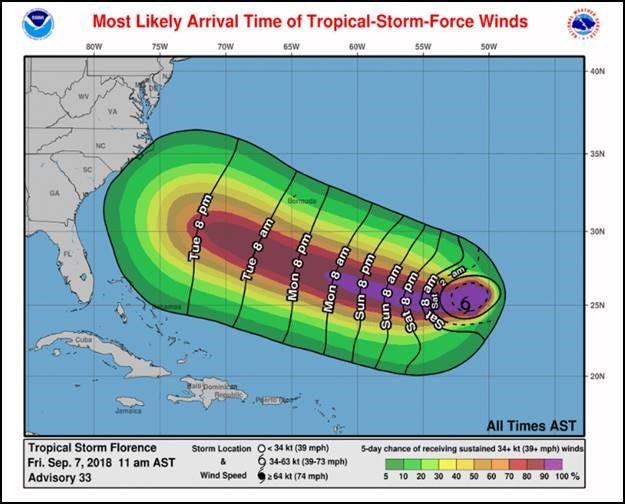 ReadyNC has an app where you can follow developments of Hurricane Florence.