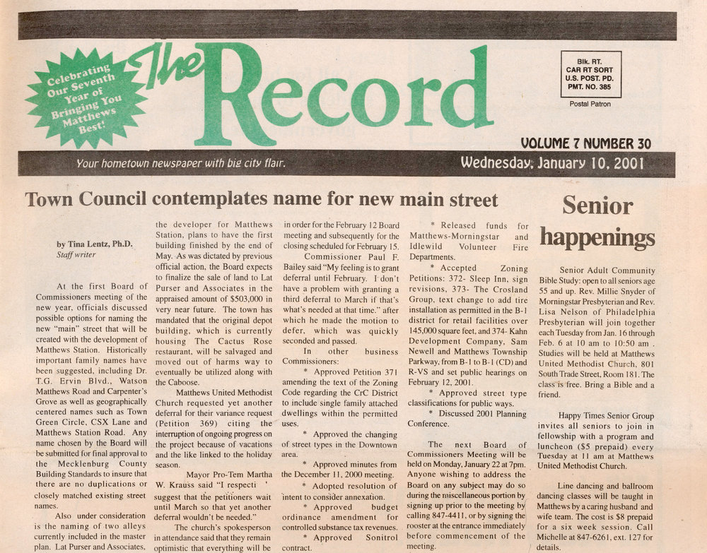 This original article was printed by The Record in 2001.