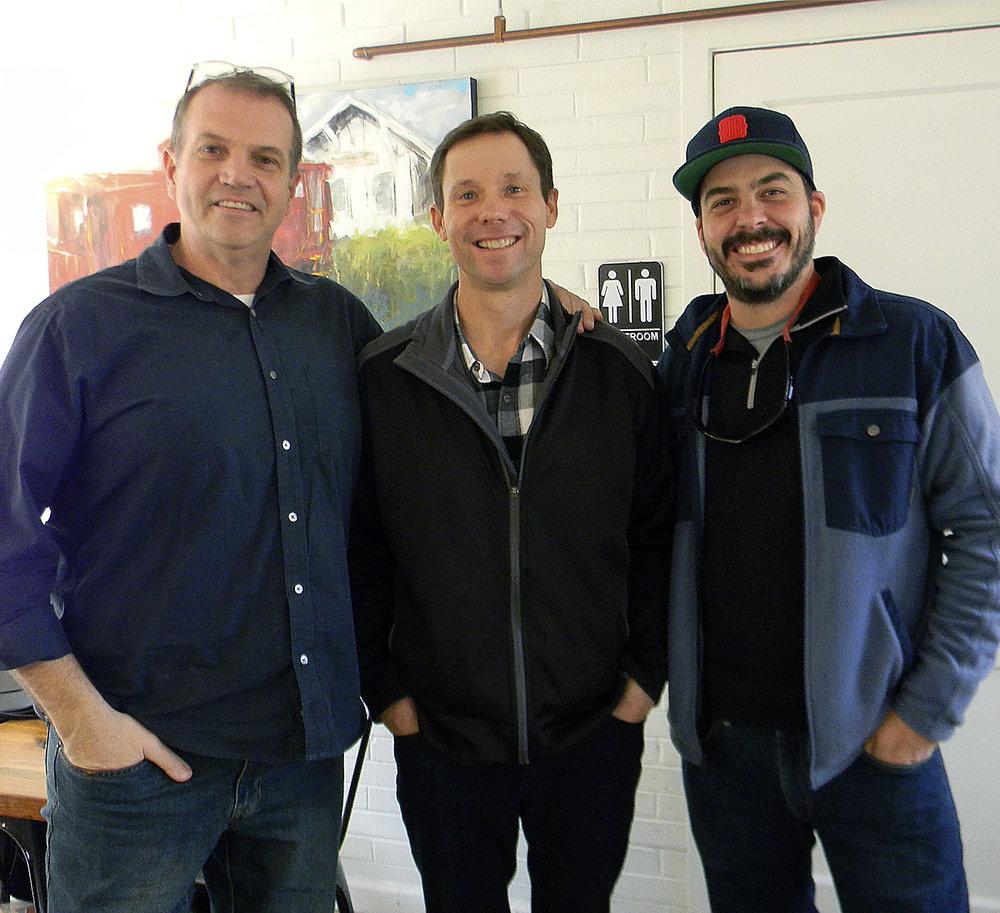 (L to R) Mark Moore, David Johnson, & Dave Braysden  Photo by Cyma Shapiro