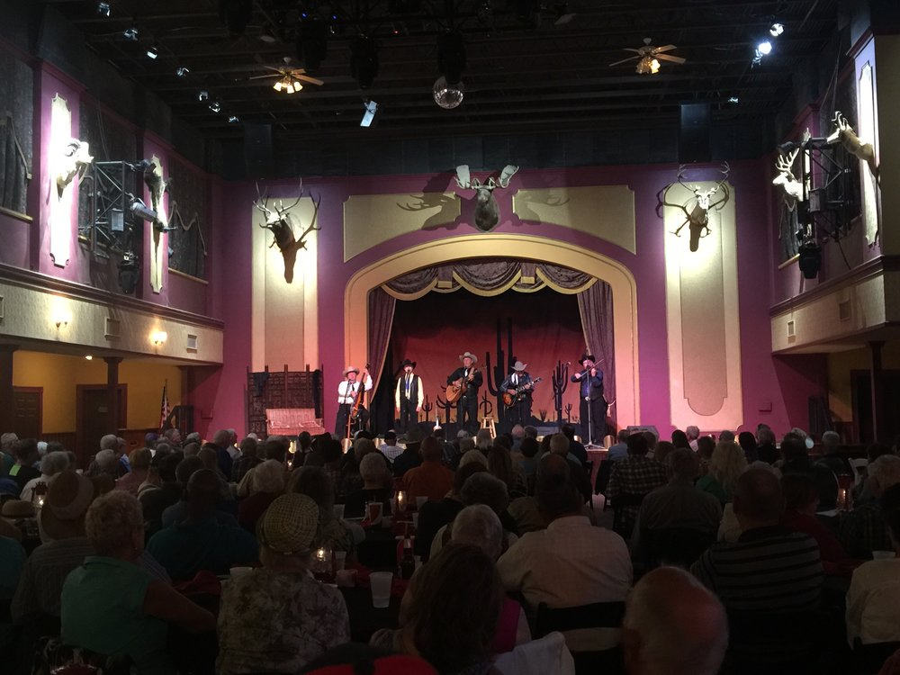 The theater in Old Tucson is such a fun place to play. This room has been in so many westerns.