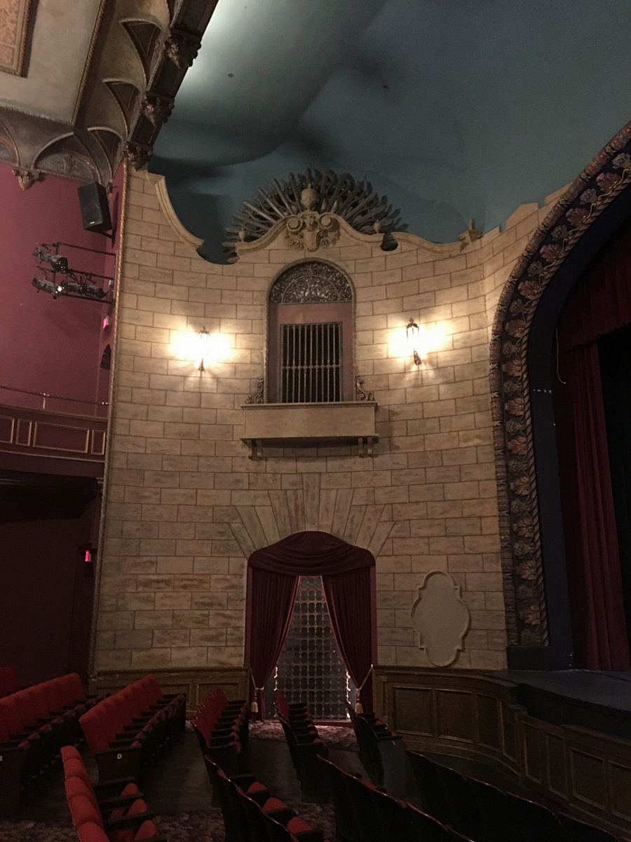 A peek at some of the architectural details inside the theatre.