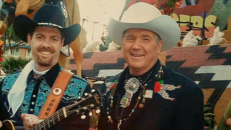 John and Dusty backstage before the Great American Wild West Show in Salt Lake City.