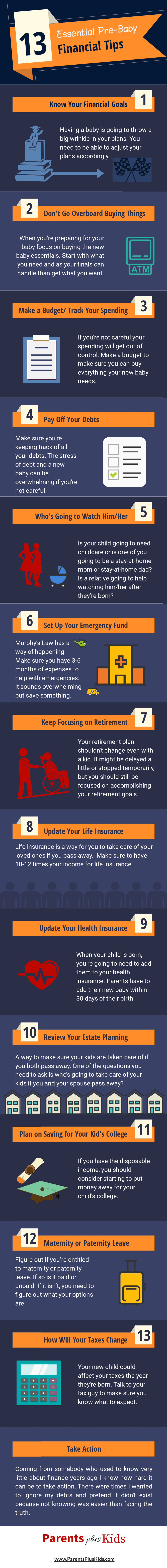 How to Prepare Financially for a Baby  Article giving tips and advice to prepare for baby. #infographic #budget #financialtips #prepareforbaby #budgetforbaby