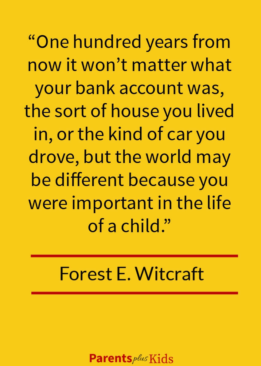 Excellent quote by Witcraft talking about what really matters as a parent.  Hint: It's not the material things.  Click through to see all the other quotes on parenting well.