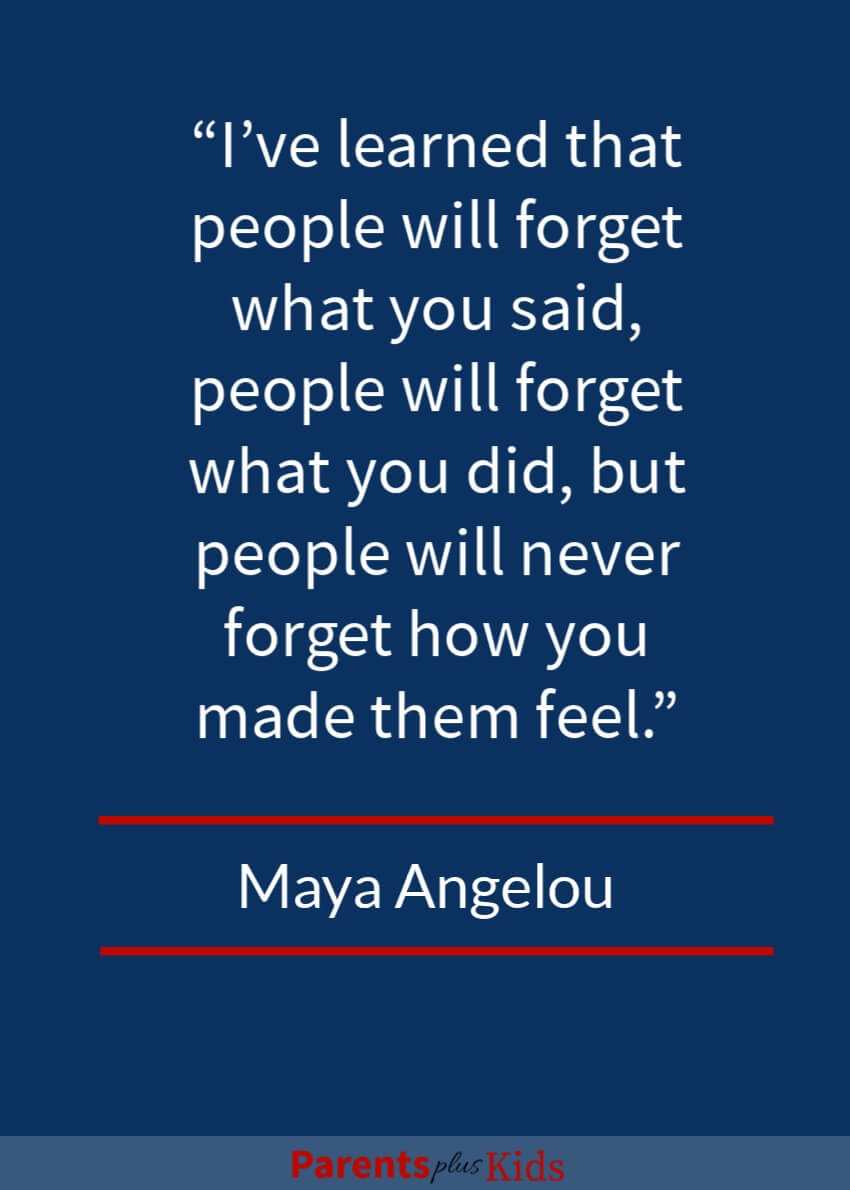 Singer, writer, poet and civil right acitivst Maya Angelou said it well in this quote.  Details will be lost with time. But feelings will stand the test of time.  Excellent quote by Maya Angelou