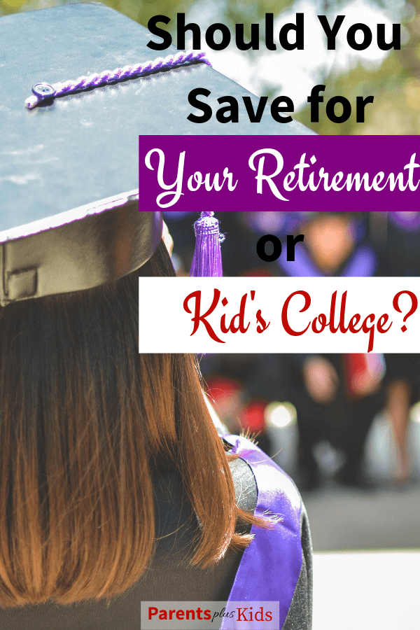 This article gives you tips and advice on why parents should focus on saving for retirement instead of saving for college. Learn why focusing on your personal finance is much better for you and your children. #retirement #savingforretirement #parentingtips #savingforcollege #familyfinance