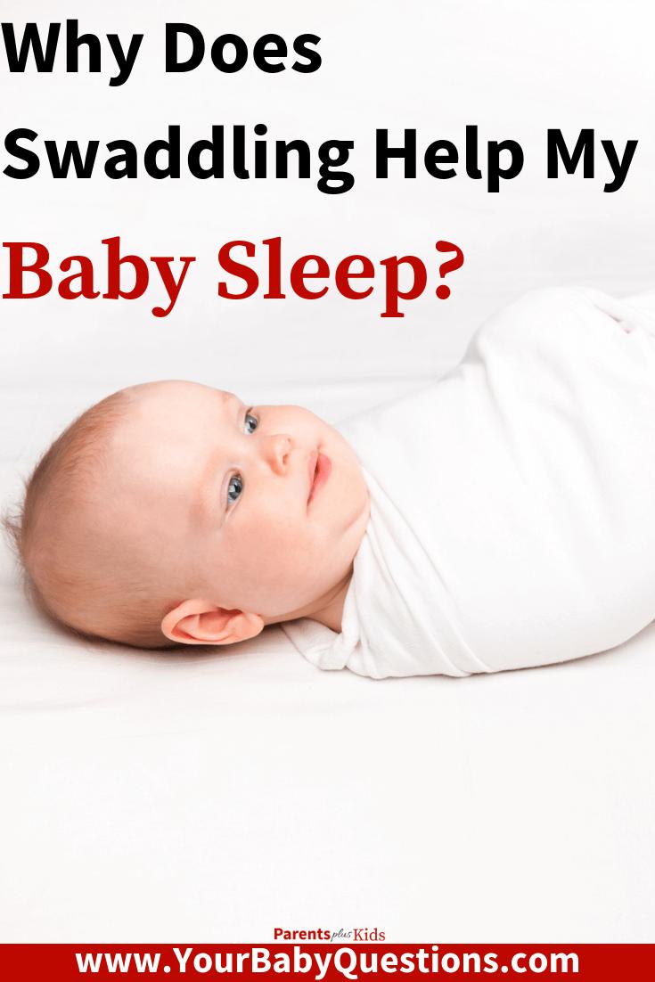 Baby sleeping tips and advice for newborns, infants. Learn why swaddling can help your baby sleep. #newmom #newdad #babysleepingtips #swaddling