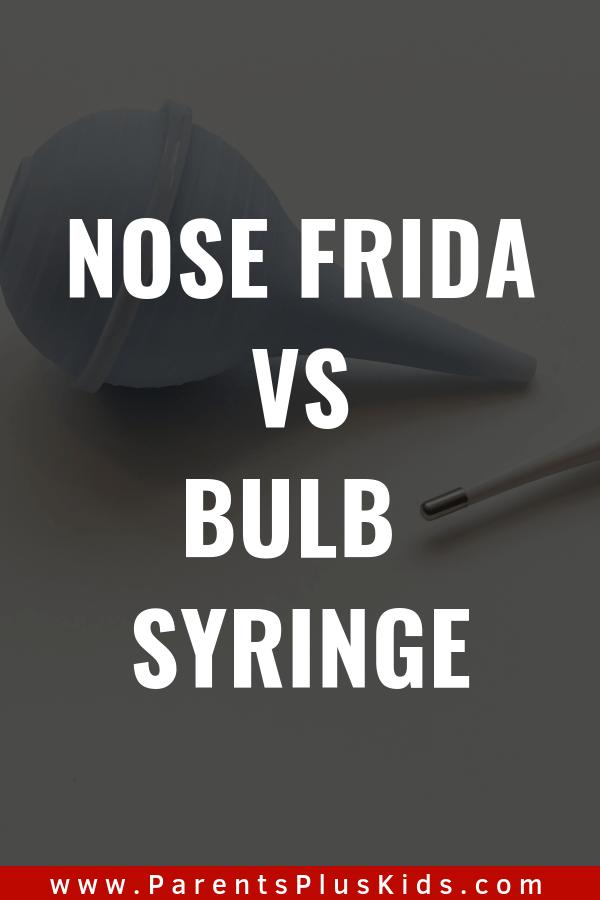 Baby product review. Nose frida vs. bulb syringe.