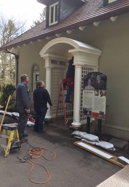 Laborers' Local 483 carpenters and crews from Portland Parks have been working to restore Pittock Mansion. To do so, they skillfully recreate architectural elements from the early 1900s.