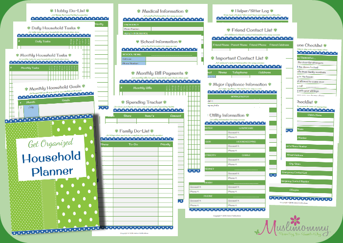 GO Household Planner Set
