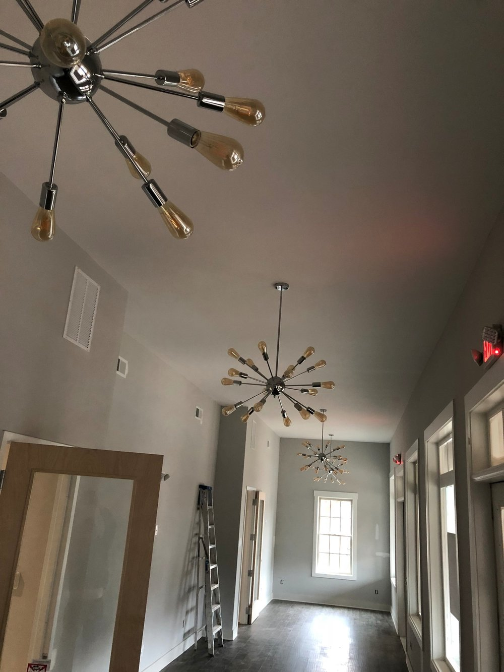 Lighting installed