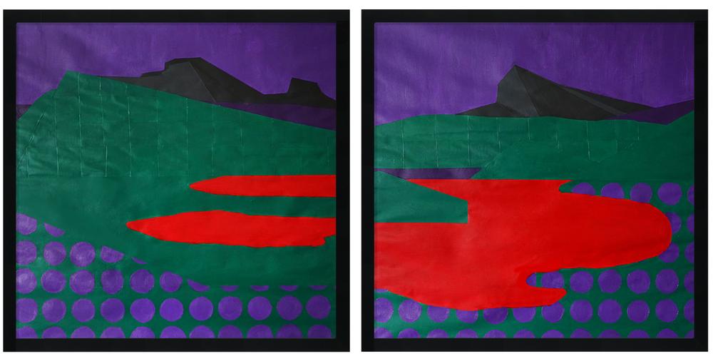 Violet Dreamscapes No. 3+4