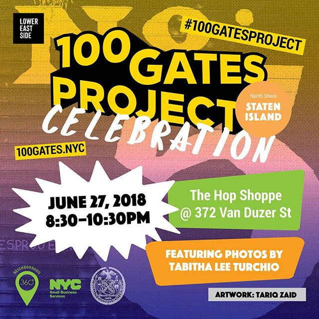 Come through tomorrow and party with the artists of the @100gatesptoject on Staten Island! • #100gatesproject #muralproject #publicartproject #muralist #muralpainter #artreception #reception #artparty #art #artist #artwork #artlife #artlover #artproject #artshow #artsy