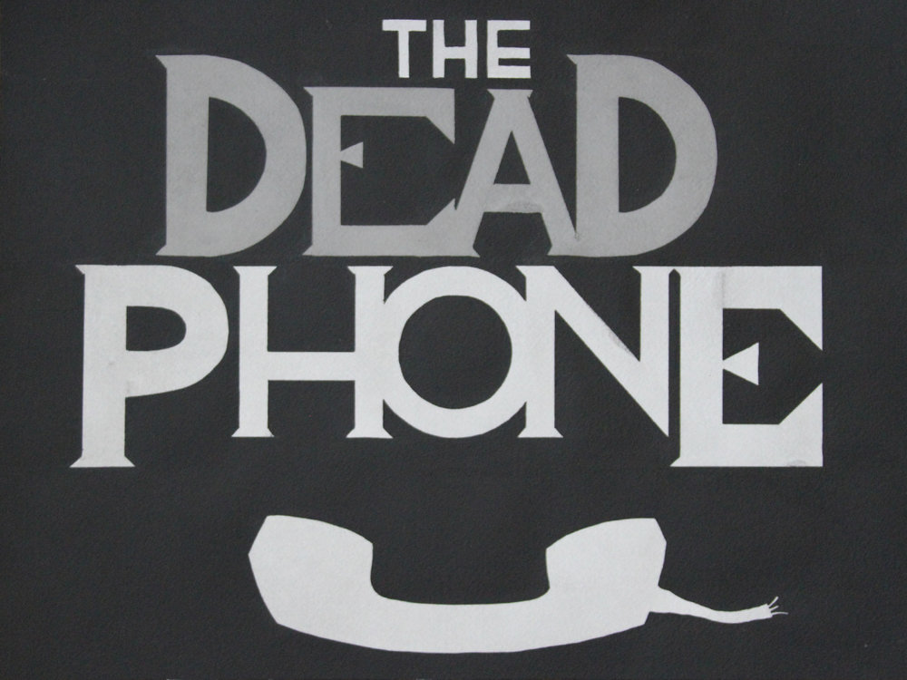 "The Dead Phone  (2017) India ink on Arches cold pressed paper, 12"" x 16"""