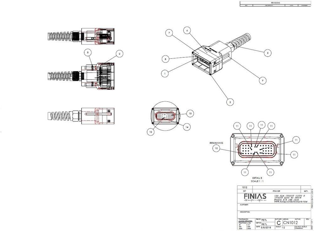 Custom test connector assemblies