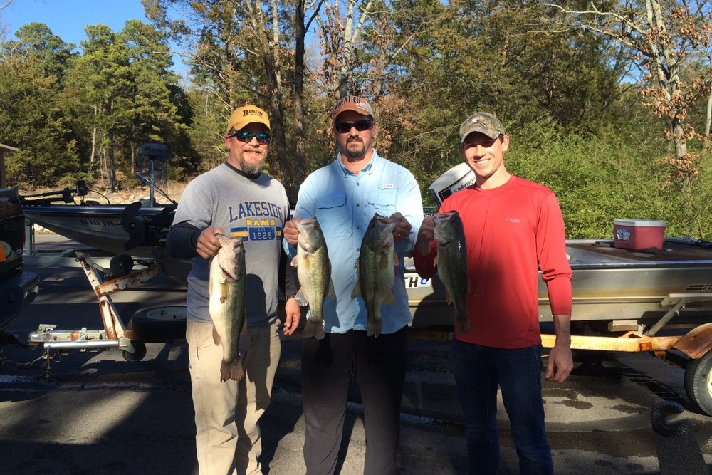 Winners of our Annual Bass Tournament