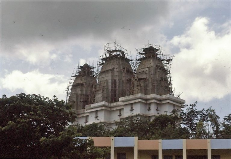 above: Eternal Heritage Museum under construction, near Sathya Sai Baba's ashram, Prasanthi Nilayamcirca, Puttaparthi, India. 1990. © The Joan Brown Estate; collection of Michael Hebel and Noel Neri, San Francisco.