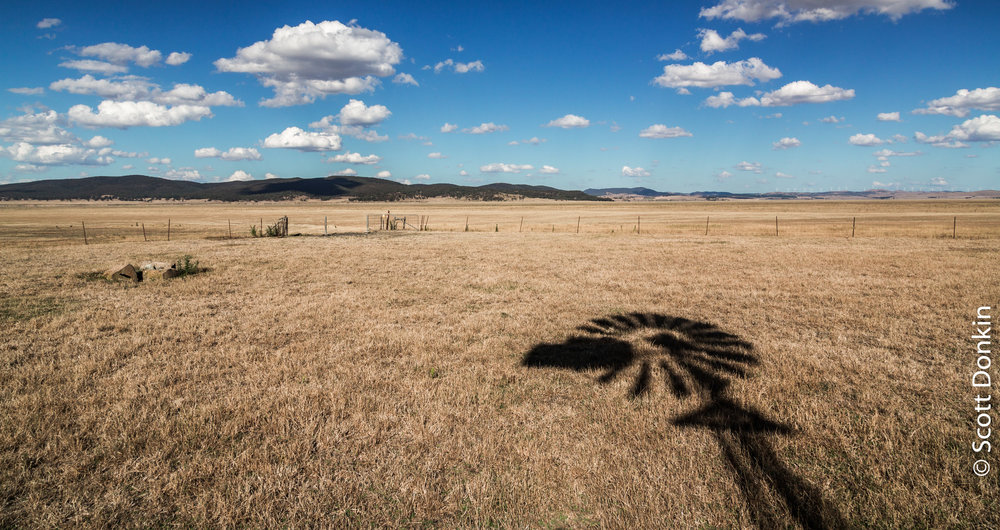 Drought-affected Lake George, New South Wales.