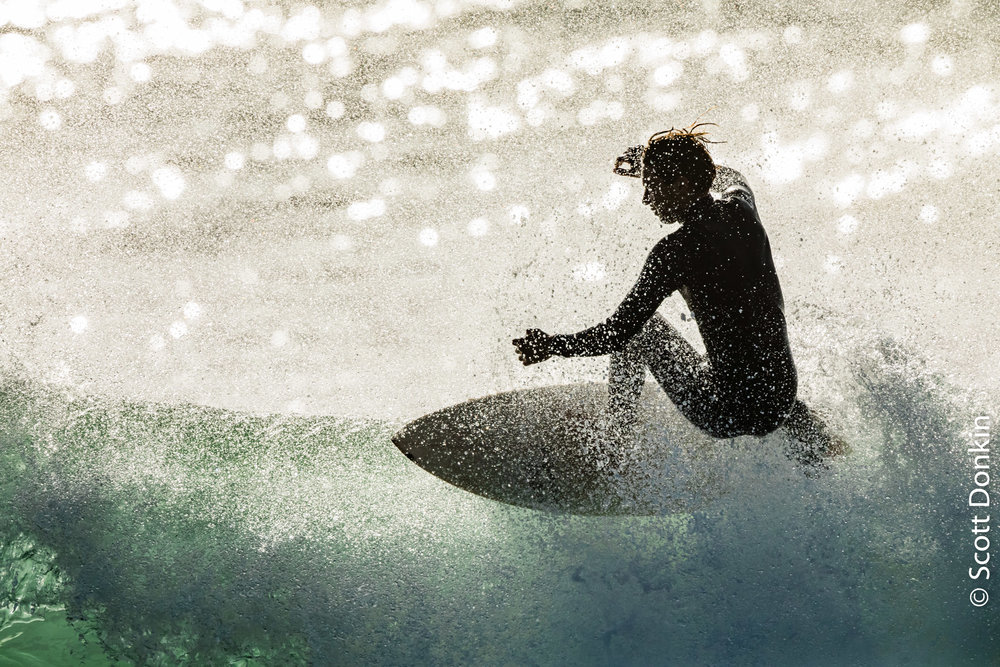 Crystal surfer. Central Coast, New South Wales.