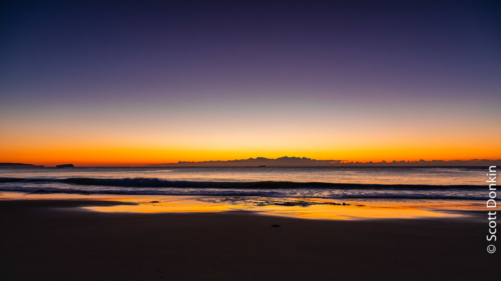 Dawn. Jenny Dixon Beach. New South Wales.