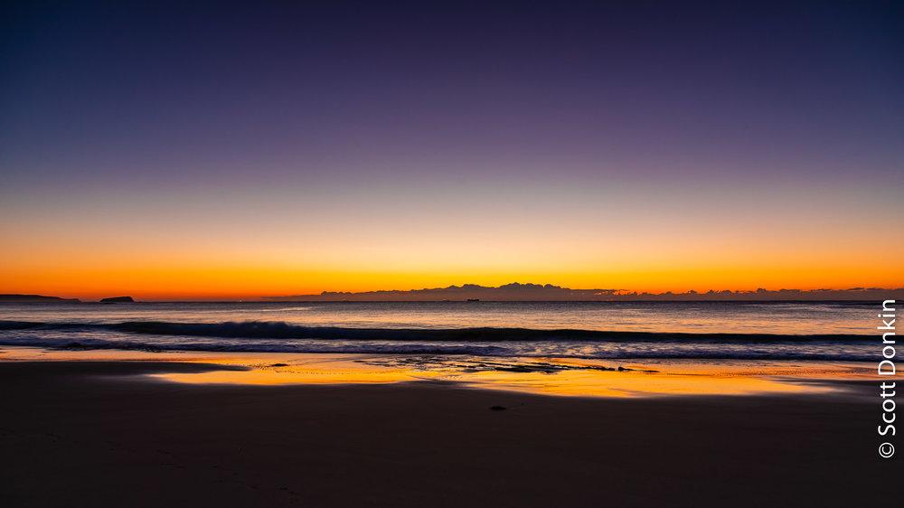 Dawn. Jenny Dixon Beach. New South Wales.