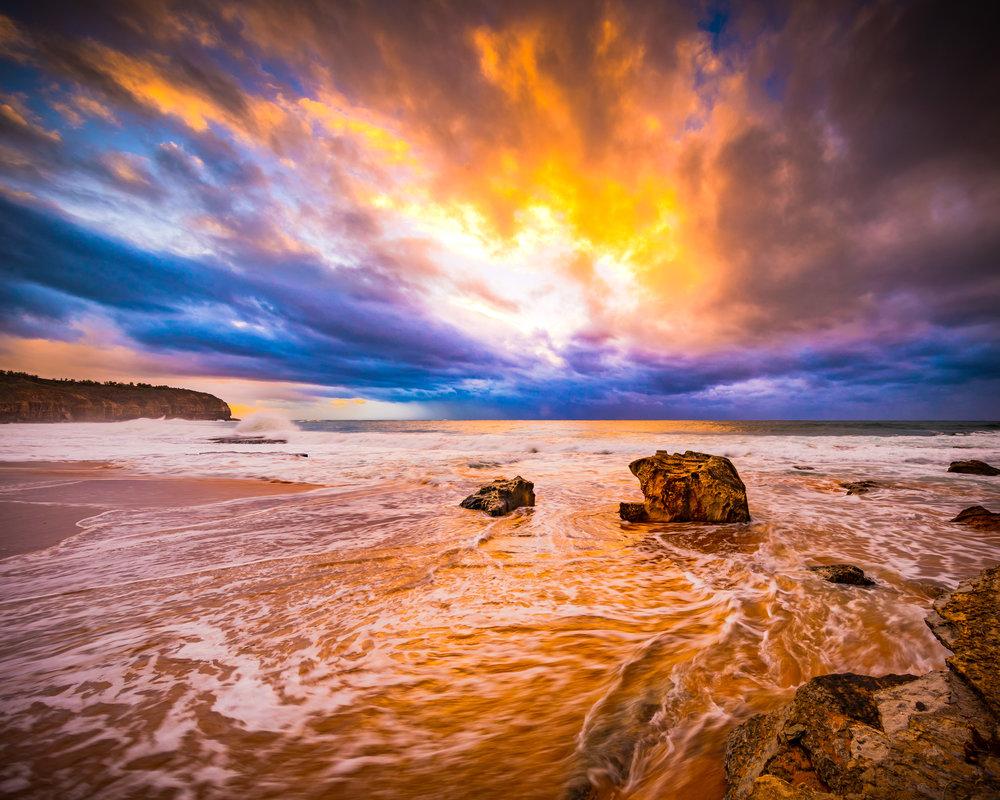Storm at sea. Dawn, Central Coast, New South Wales.