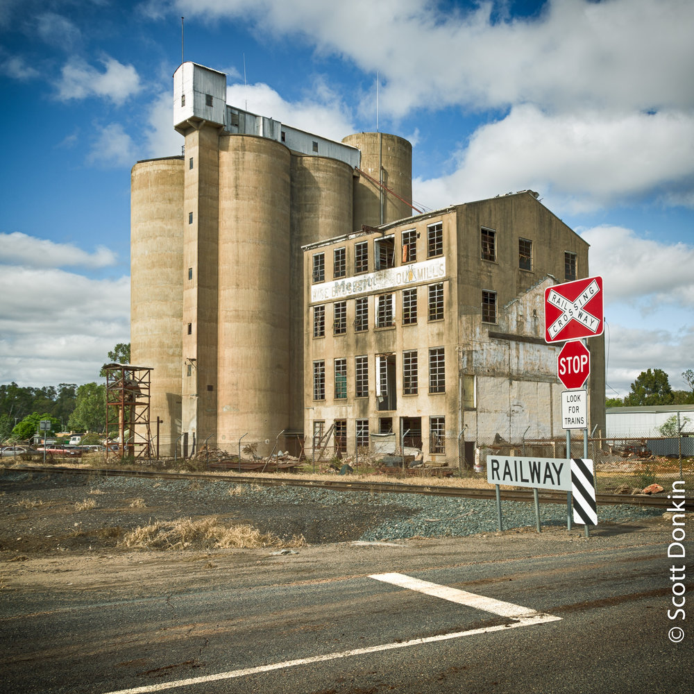 Rail grain store. Tocumwal, New South Wales.
