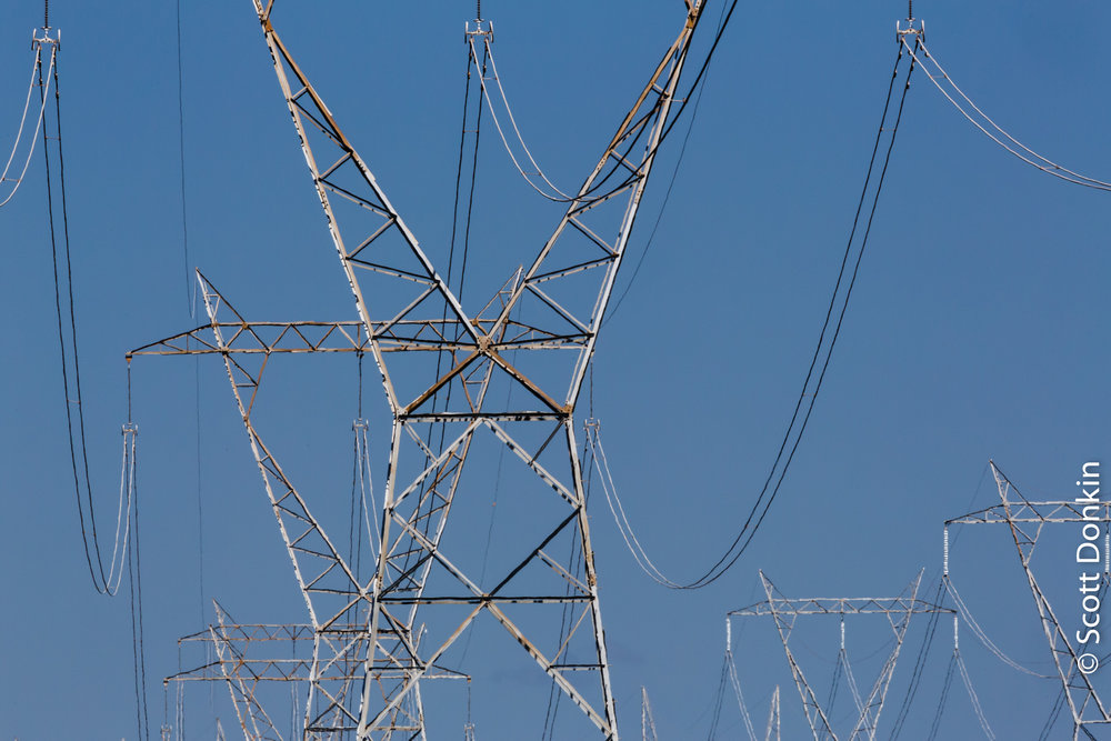 High voltage electricity towers. Hunter Valley, New South Wales.