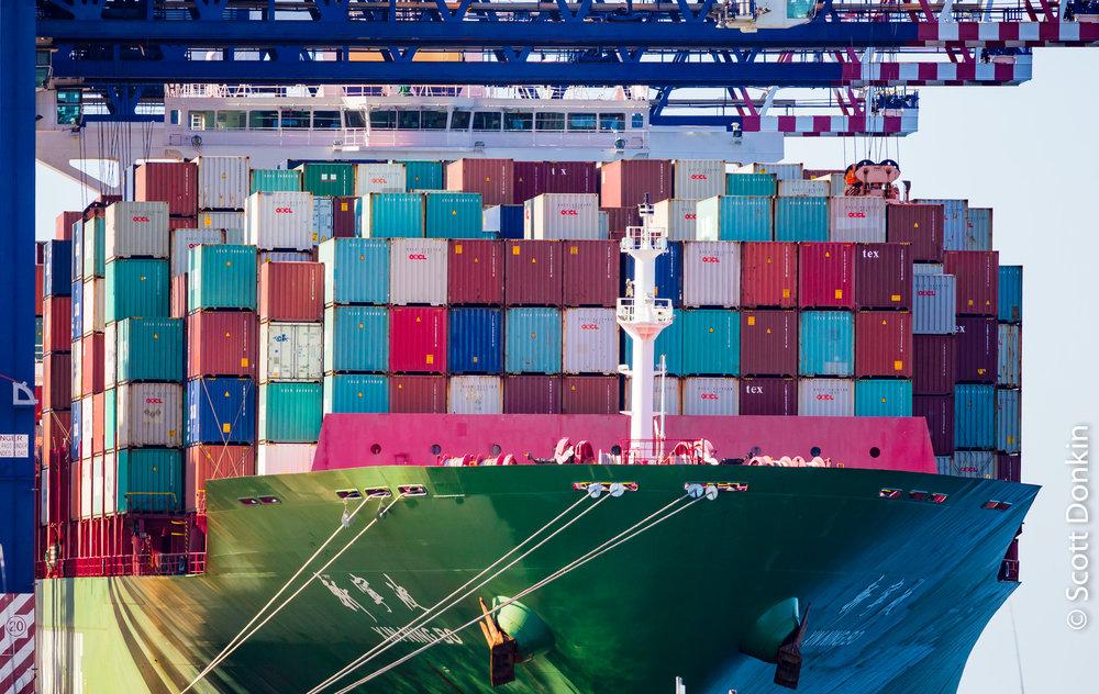 Cargo. Sydney Container Terminal. Sydney.