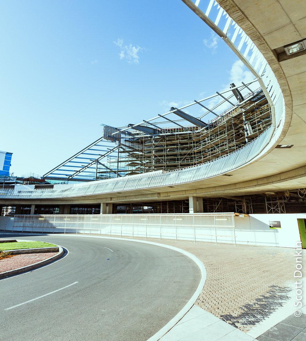 Passenger terminal construction, Canberra Airport. November 2013.