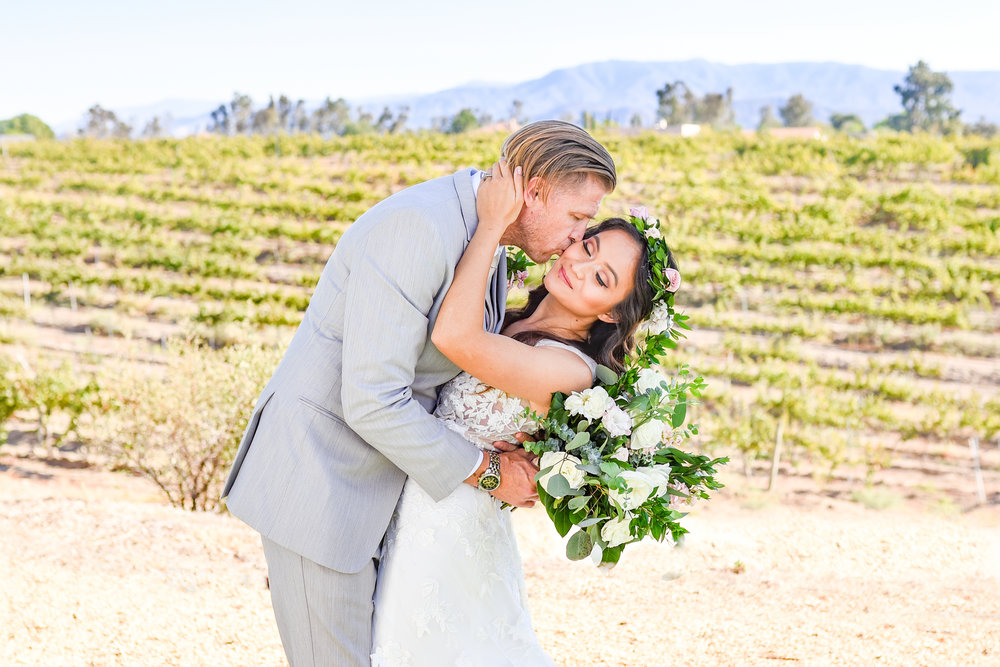 Angel & Tom- Temecula, CA Winery Wedding