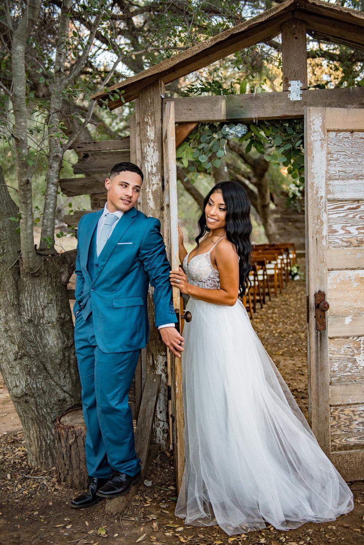 Sincere & Dominque- Ramona, CA Rustic Dusty Blue Wedding