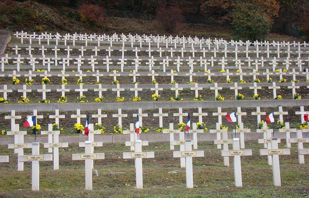 Military cemetery at Moosch