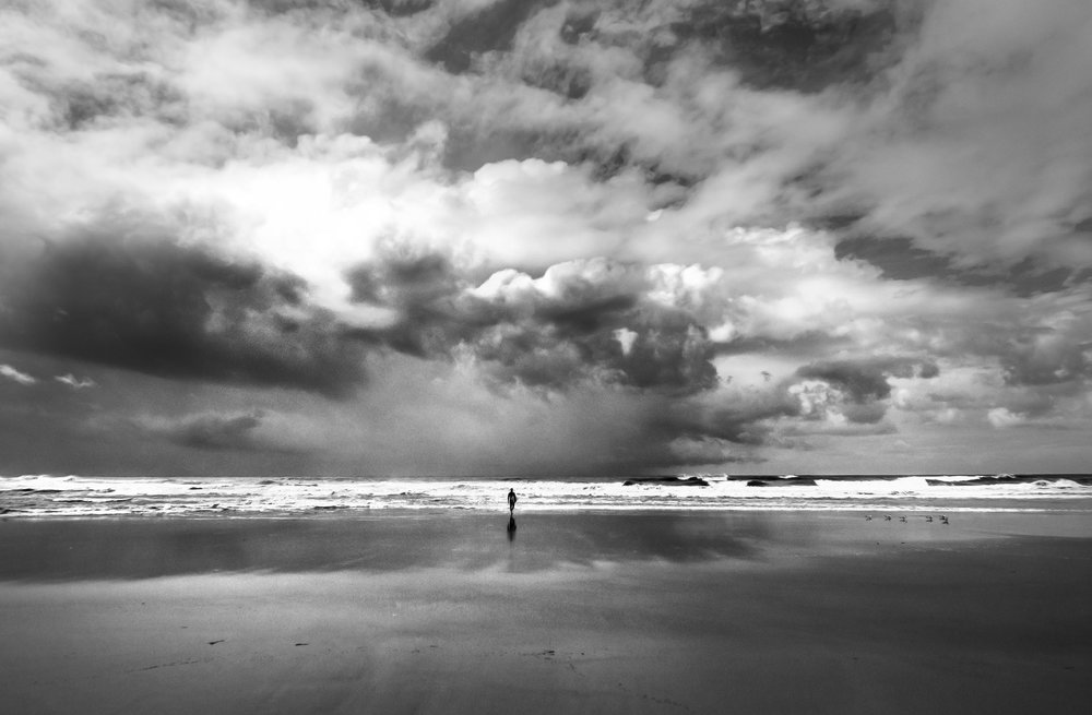 LONE SURFER - COOLUM BEACH - QUEENSLAND