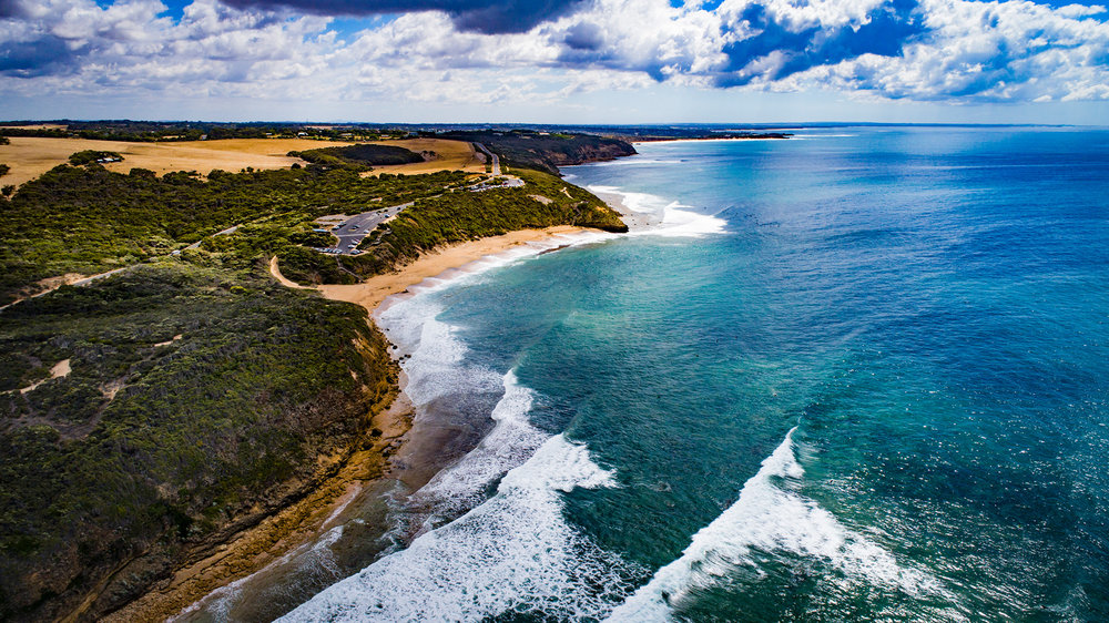 Bells Beach Drone