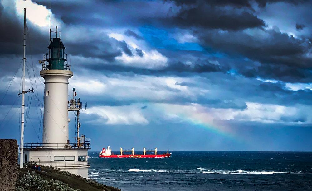 Lighthouse & Ship