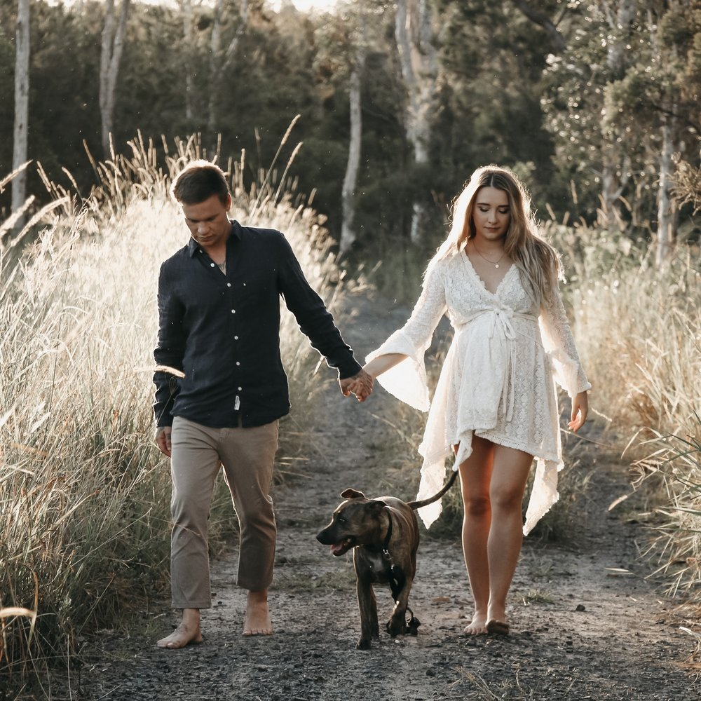Brooke + Nathan + Acre   Winter light framed in Caloundra