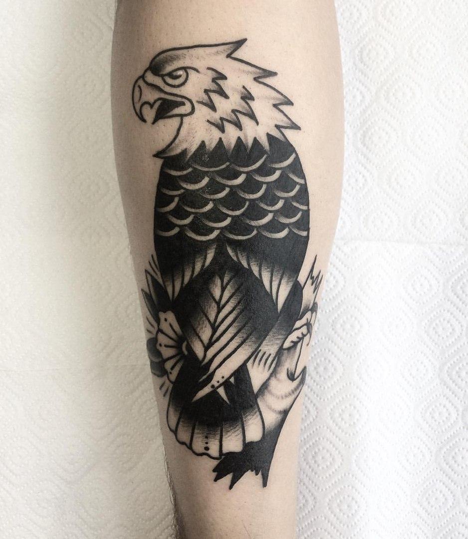 Орёл, традиционная татуировка,мастер Сергей Литвяков.jpg