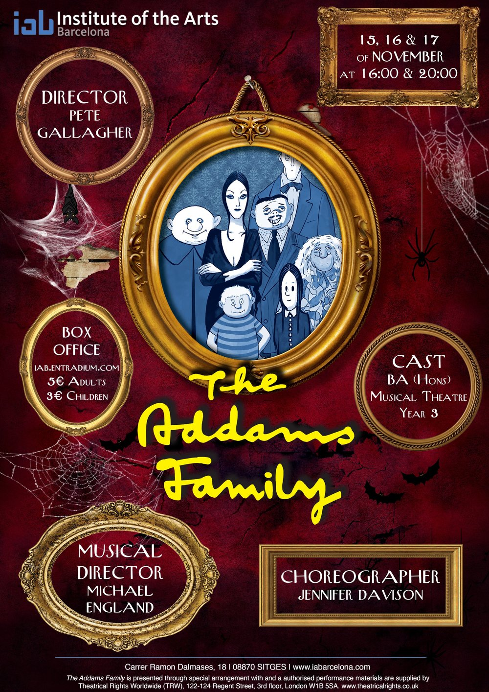 The Addams Family - BA (Hons) Musical Theatre Year 3