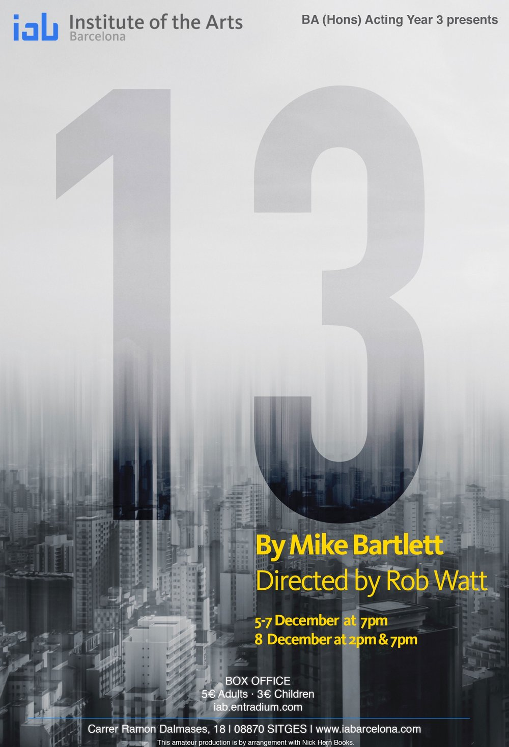 13 by Mike Bartlett - BA (Hons) Acting Year 3