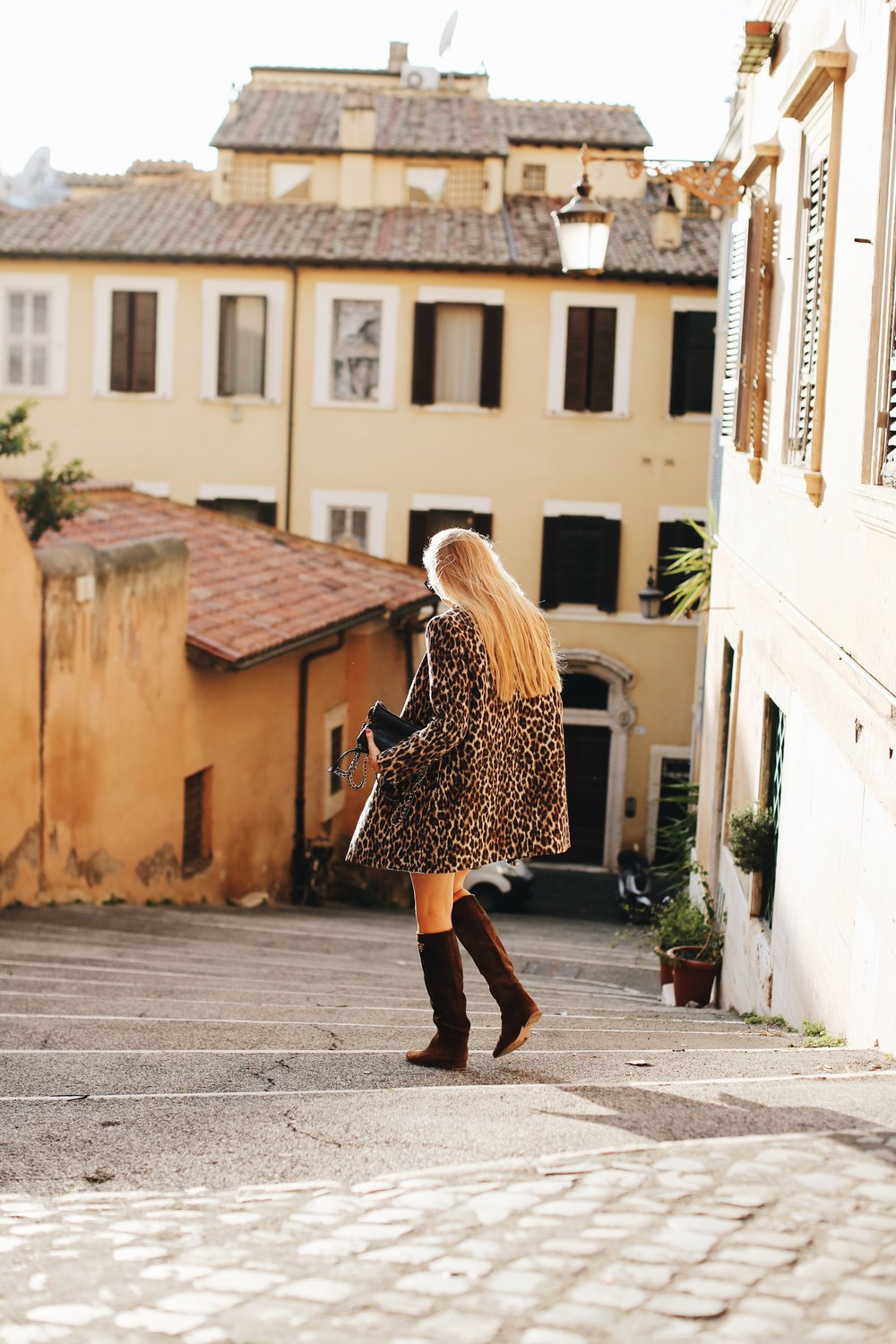 These boots were made for walking… the sun-drenched autumn streets of Rome