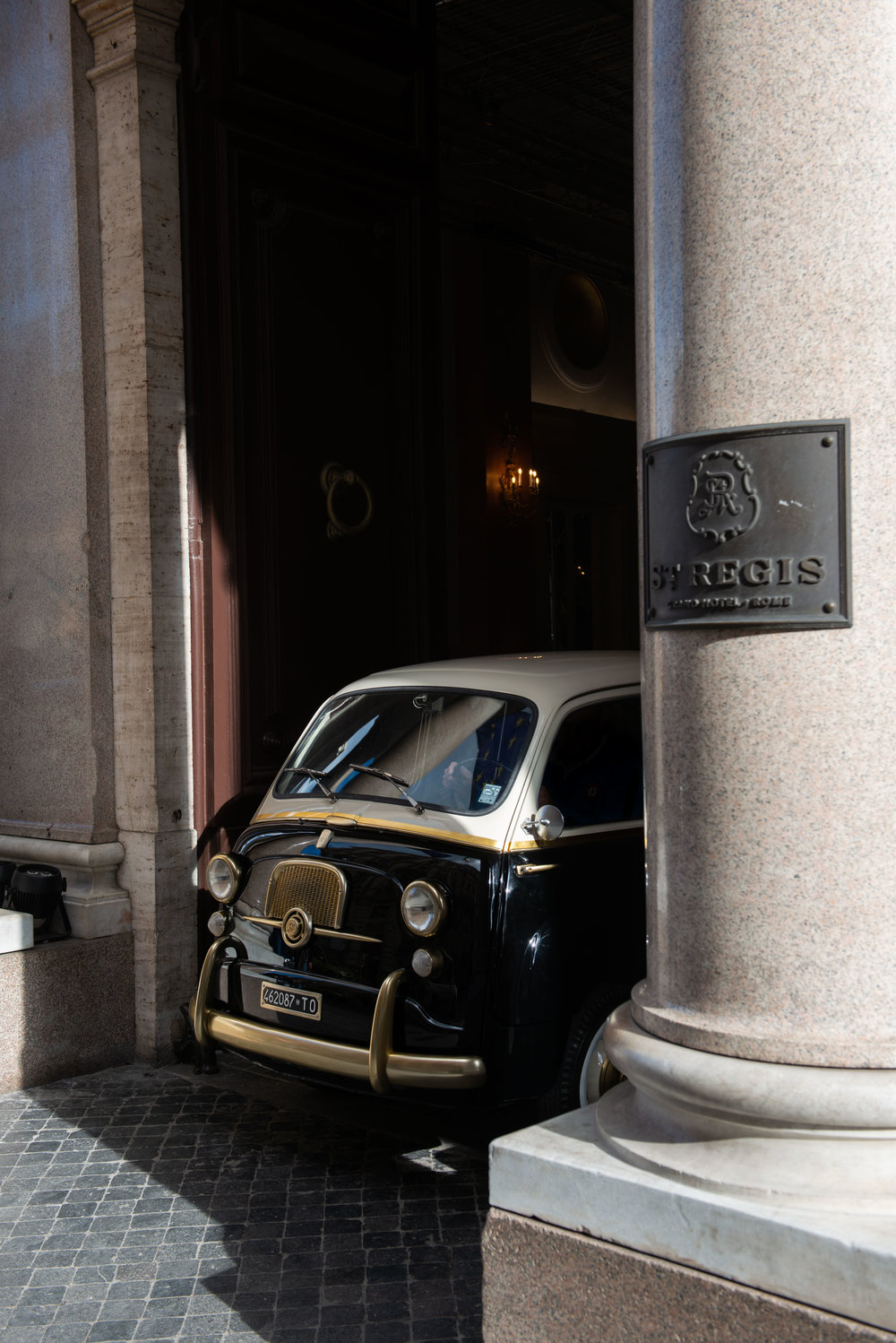 The custom 1962 Fiat 600 at St Regis Rome